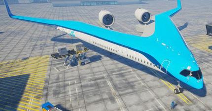 超酷新款「V字型飛機」設計曝光 載客量一樣卻「更環保」現有飛機都該被取代!
