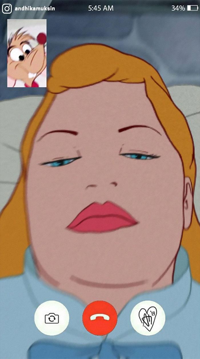17張迪士尼公主「過得比你還俗」的爆笑日常 白雪公主和獵人一起玩「換臉」!
