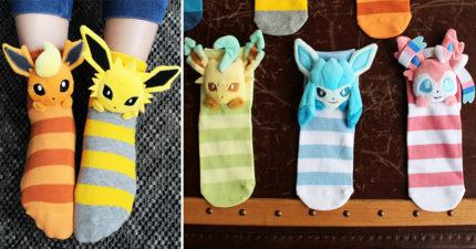 寶可夢官方推出「伊布家族立體襪」引搶購 超精緻「10屬性」粉絲驚:小孩還有特別款!