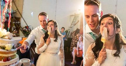 26張「用魔鬼視角捕捉婚禮細節」的爆笑照 老媽「幫燙禮服」新娘表情卻超母湯!