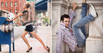 20個證明「當模特兒筋要夠軟」的怪姿勢時尚照 「大法師舔膝蓋」網笑翻:好難懂...