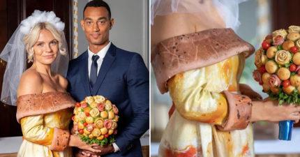公司舉辦「獎品是一套披薩禮服」的超獵奇比賽 網看到「下半身設計」驚呆:還可以拉絲?