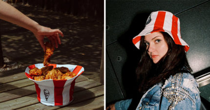 肯德基推「炸雞桶漁夫帽」進攻時尚界 反過來「超實用功能」被大讚:很環保