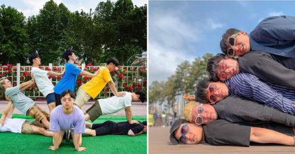 還在比YA就太遜了!韓國歐爸示範「超獵奇團體照」爆紅 網大推「畢業旅行」必拍