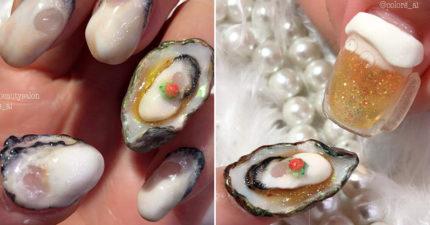 美甲師打造「讓人食慾大開」的牡蠣手被瘋傳 網友比對「真實版」傻眼:100%還原!