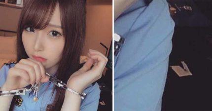 網美Cos「被銬住的警察妹」的無辜照 老司機放大找出「已拆封包裝」超害羞:剛結束?