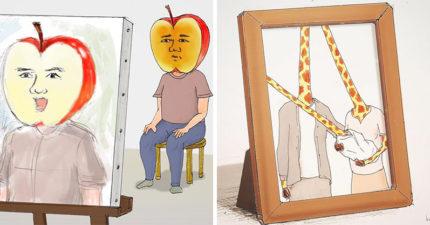 20張證明「人類世界太瘋狂」的腦洞大開插畫 體重計的「數字」也讓你變得不快樂嗎?