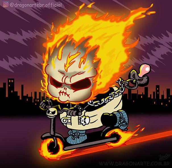 藝術家繪「超級英雄們的童年」爆紅 連「漫威之父」史丹李都是狂粉!