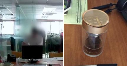 覺得茶有怪味!他裝監視器抓包「20年老同事偷加料」嚇壞:每天喝強酸...