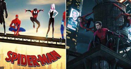 如果《蜘蛛人:新宇宙》拍成真人版?粉絲狂P想像圖 湯姆霍蘭德:三代蜘蛛人一起演