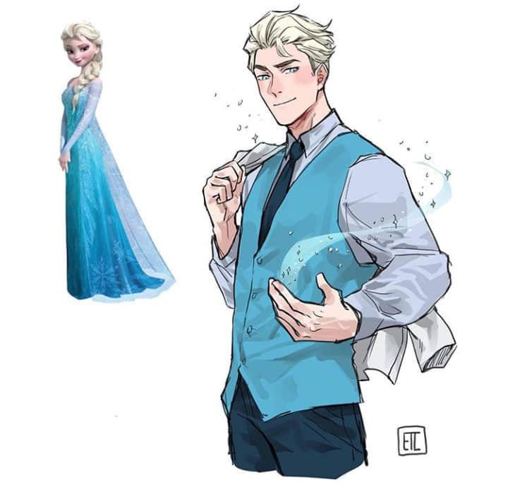 繪師畫出迪士尼公主「不是女生更好」的作品 貝兒變「水豚系草食男」姐姐超愛!