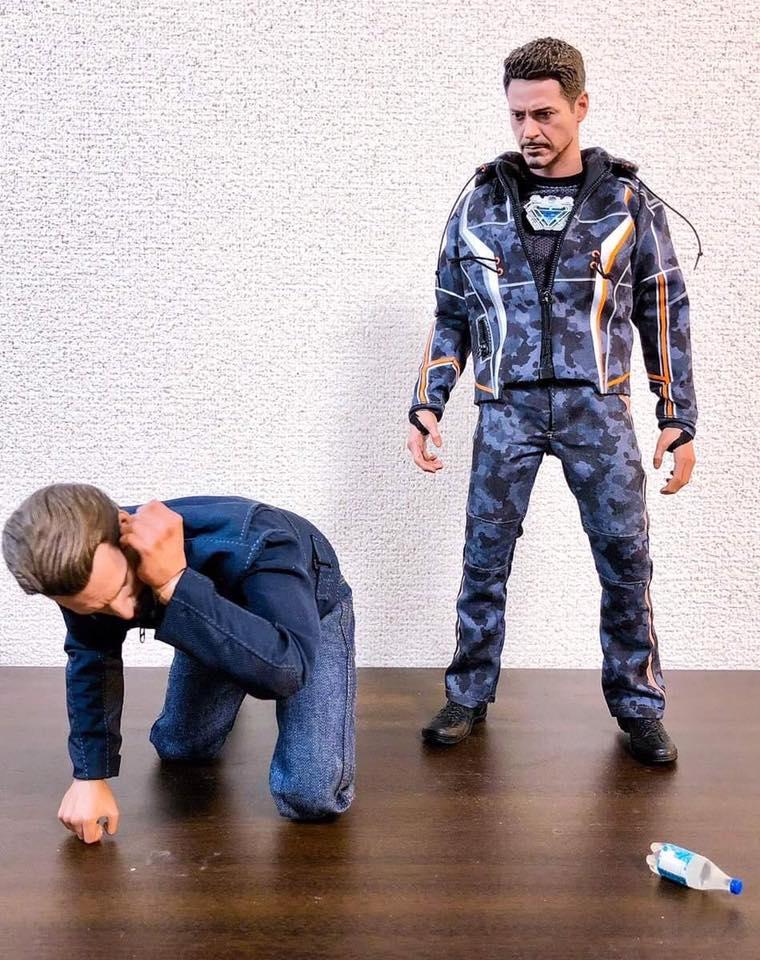 神人用公仔模擬「鋼鐵人挑戰踢瓶蓋」爆笑情況 超反轉劇情粉絲笑爛:美隊被陰了!