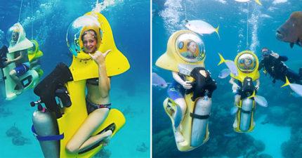 讓旱鴨子也敢潛水的「海底腳踏車」問世 比「在陸地騎更簡單」網瘋:超想玩!