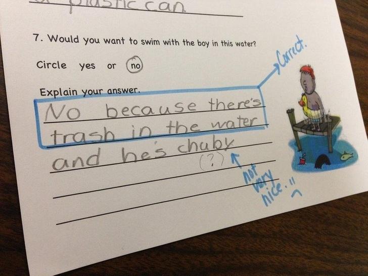 23個證明「小孩永遠搞不懂」的爆笑作業簿 最强的力量是什麽?他:是愛!