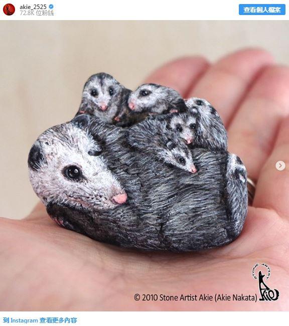 日本藝術家「把石頭變成動物」!可愛爆表「小鳥、刺蝟石頭」網萌翻:快出扭蛋~