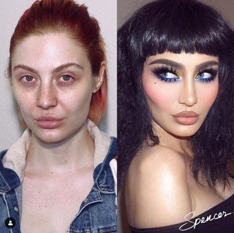 19張「根本像投胎轉世」的化妝前後對比 她的「一張臉」住了2個人!
