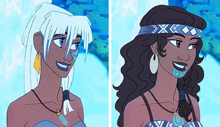 如果迪士尼公主是「不同種族」?灰姑娘化身「日本藝妓」、花木蘭變歪國人!
