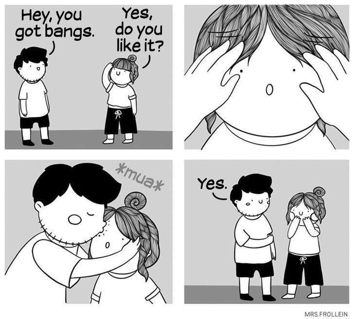 最完美的愛情就是這樣!15張「完全戳中你的心」情侶插畫 面對女友變胖「超心機回答」男友都該學