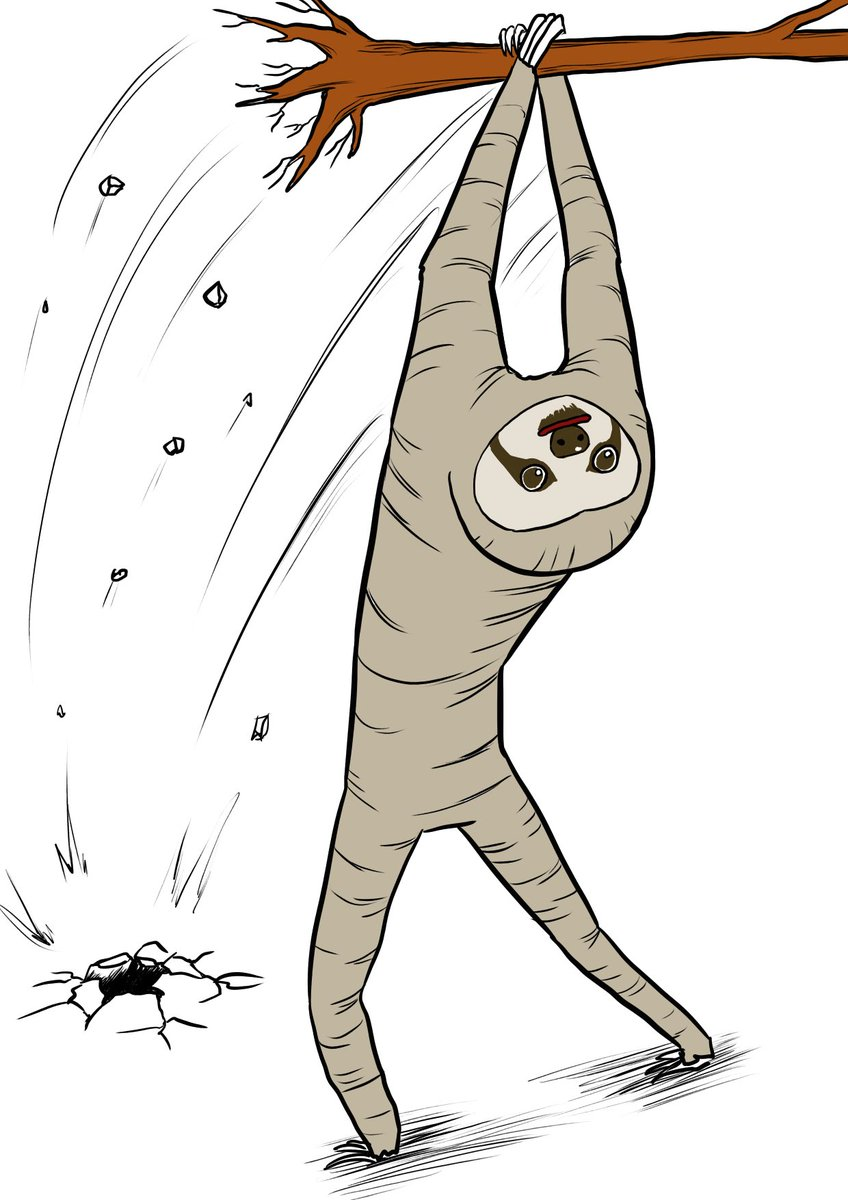 心很累畫家新作!16張「畫到一半自我放棄」爆笑插畫 樹懶連人格都變了呢