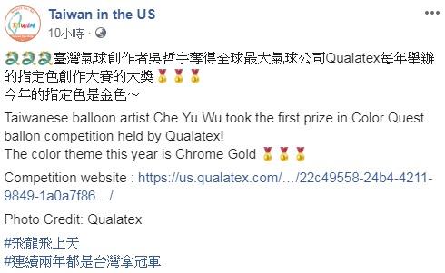 台灣之光!台創作者製「霸氣金龍」參賽奪冠 超逼真「藍鯨」網驚:氣球做的?
