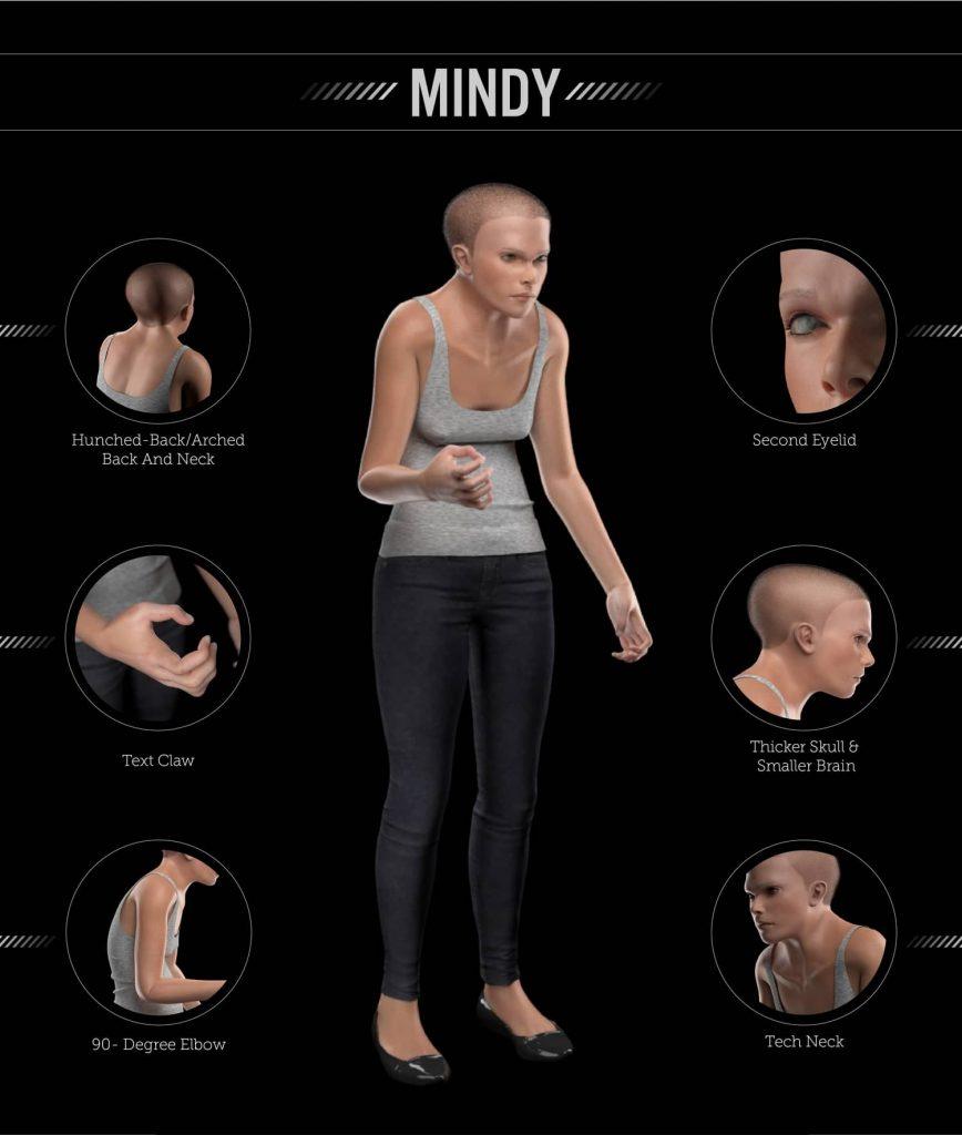 2100年人類會變這樣?小腦、脖子粗大、駝背...科學家:眼皮長出第2層
