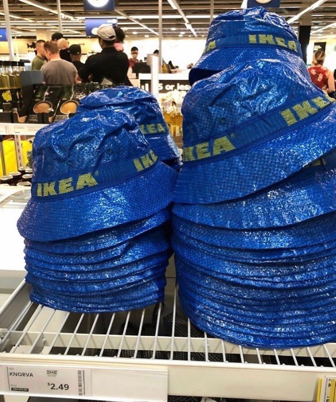 IKEA推限量「購物袋漁夫帽」引暴動 網路拍賣價「翻10倍」傻眼:都能買傢俱了!