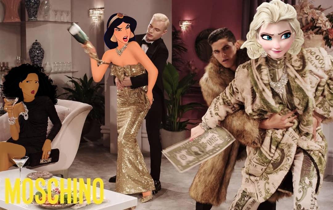 15張迪士尼公主「領先凡人100年」的亂入時尚照 艾莎的「遮羞黑條」太母湯!
