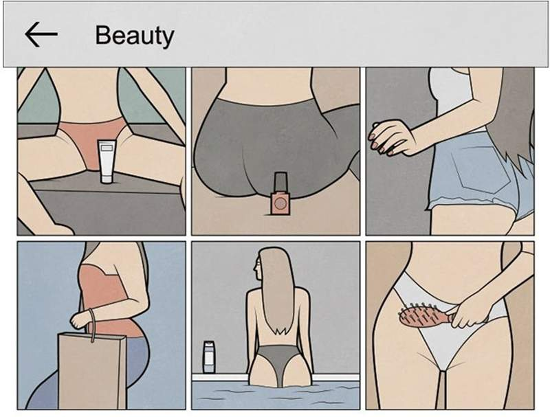 藝術家繪出「網美IG都長這樣」的諷刺插畫 「肌膚露出程度」才是業配的關鍵!