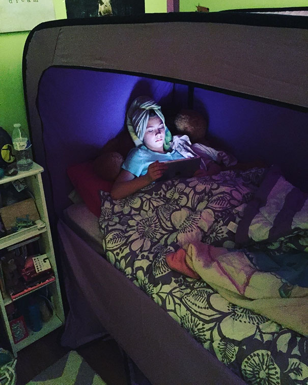 邊緣人超需要的「我想一個人靜靜」床型帳篷!「關起來後」就能直接脫離世界