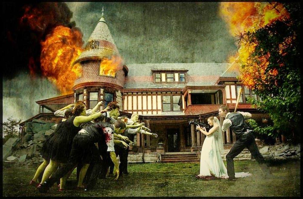 國外瘋「融入電影場面」的超獵奇婚禮照 網看完點出「來賓演技」絕對是關鍵!