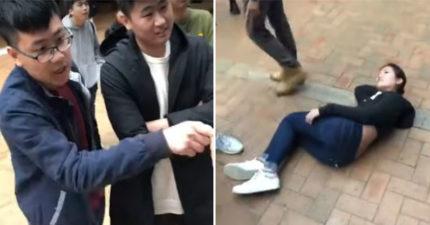 影/中國留學生爆嗆反送中「推倒女港生」還大罵 祖國「大力讚賞」:出於對中國香港的熱愛!