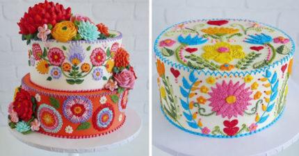 她製作的蛋糕因為「太像刺繡」在網路上爆紅 結果網搜出「超正本尊照」暴動:怪不得!