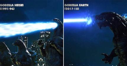 影/網瘋傳「哥吉拉大絕」的歷代轉變 65年前「最原始模樣」吐的不是鐳射!