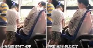 大媽放任小孩「在公車上解放」 同車乘客暴怒:她只看了兩眼!