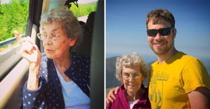 活到89歲沒出過國!孫子「彌補遺憾」帶奶奶環游世界 網看到「她的表情」秒懂:值得了