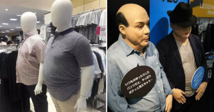 百貨公司驚見「平凡人身材」的人形模特 超寫實「鮪魚肚+蜜大腿」被讚爆:終於不會被騙!