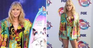 泰勒絲風光領獎卻被「中國人抵制」 網友暴怒:服裝有問題!