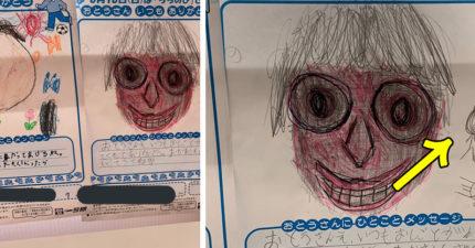 小孩開心繪製「爸爸的樣子」父親節畫作 網友一看「超毛亮點」卻嚇到背脊發涼:細思極恐