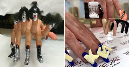 25個「竟然真的有人做」的獵奇美甲 她把「10個盆栽」種在手指上!