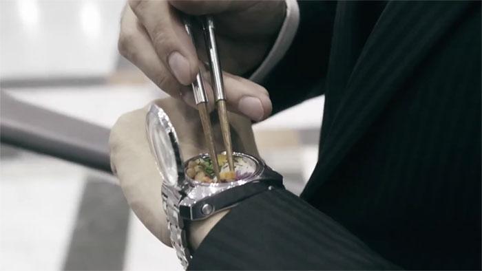 都市人太忙!日本廚師推出超方便「便當手錶」 「豐富營養食材」再也不怕沒時間吃飯