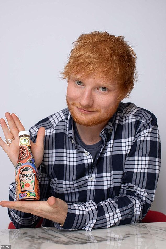 「紅髮艾德X番茄醬」跨界聯名!整罐「都是他的刺青」拍賣會成交價超驚人