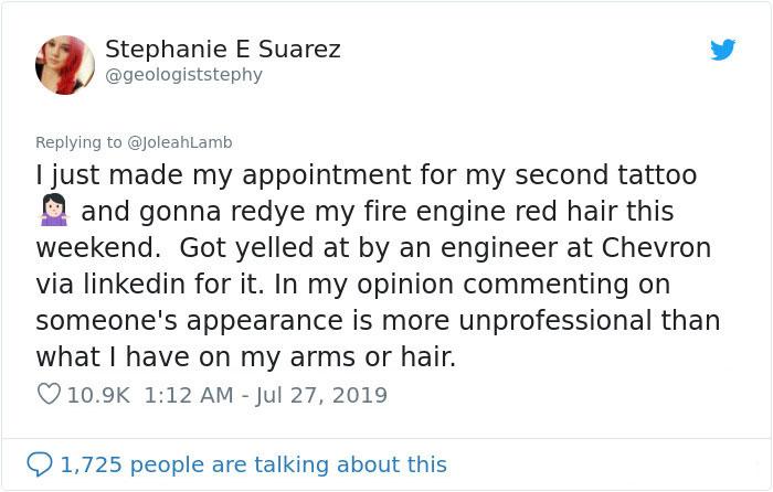 女科學家因「紅髮+刺青」被批不夠專業 她霸氣回「一句話」被網友讚爆!