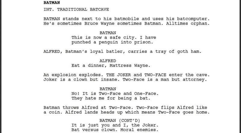 請機器人幫寫《蝙蝠俠》劇本 編劇嚇翻:第一頁就太瘋狂