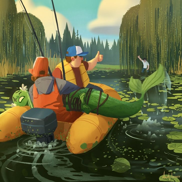 藝術家描繪《小美人魚》的「另一個故事走向」 「救公主的他」下場讓網友淚崩:太悲傷了