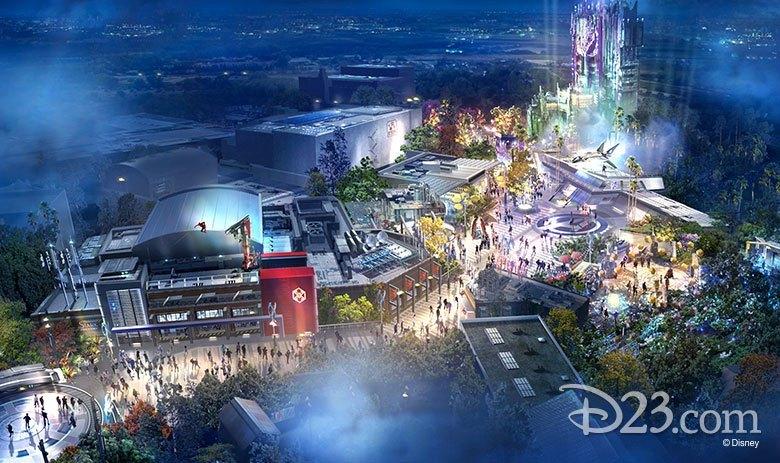 迪士尼樂園新計畫!公開全新「復仇者校園」主題園區 設計草圖讓粉絲大暴動:小蜘蛛QQ