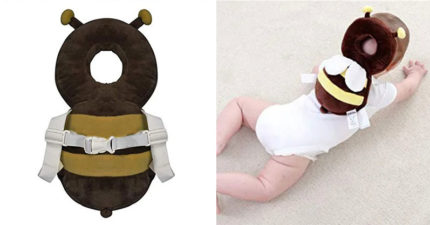 寶寶用「動物小書包」完美包覆頭部 爸媽讚爆:再也不怕摔!