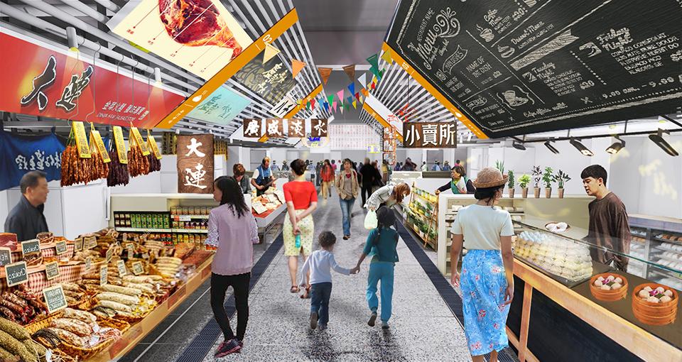 南門市場換新貌!官方曝光「時尚菜市場」3D圖 地下「連接捷運」2022年開幕
