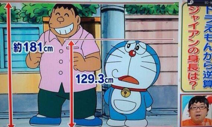 他發現《哆啦A夢》重大bug...胖虎居然有180公分?留言區歪樓:大雄媽才是外星人吧
