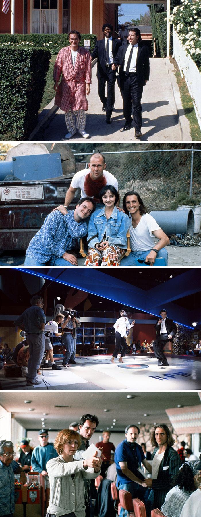20部經典電影背後的「秘密花絮照」曝光 《侏儸紀公園》的恐龍原來都是人扮的!