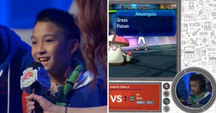 史上第一次!台灣10歲弟拿《寶可夢》世界冠軍 全程「披國旗」網讚爆:台灣之光